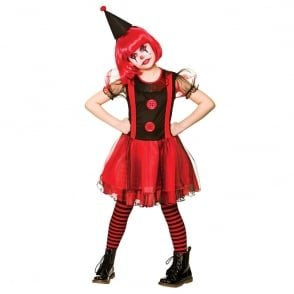 Girls Freaky Clown - Kids Costume
