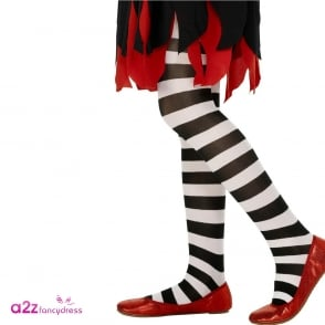 Tights (Black & White) - Kids Accessory 6-12 Years