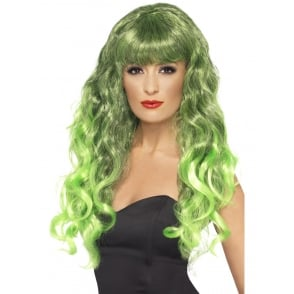 Siren Wig (Green) - Adult Accessory