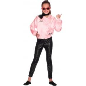 Grease Pink Ladies Jacket - Kids Costume