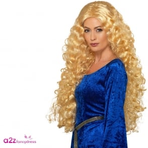 Medieval Blonde Wig - Adult Accessory