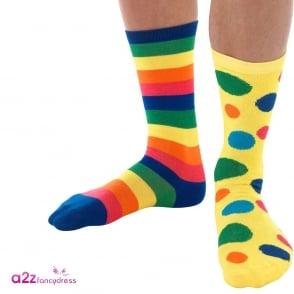 6 x Clown Socks - Accessory