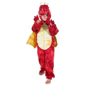 Red Dinosaur Dragon - Kids Costume