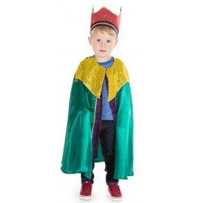 Green King or Wise Man Balthazar - Kids Costume