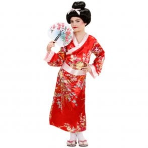 Red Geisha Girl - Kids Costume