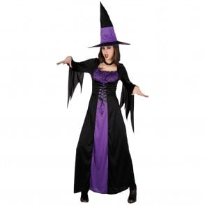 Spellbound Witch - Adult Costume (Dress, Hat, Choker)