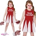 Zombie (Fear Leader) Cheerleader + Pom Poms - Kids Costume