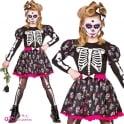 Skull Of the Dead - Girls Costume (Dress, Hairclip)