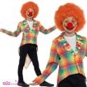 Neon Tartan Clown Tailcoat - Kids Costume