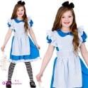 Classic Storybook Alice - Kids Costume Set (Costume, Black & White Tights)