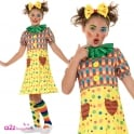Girls Clown - Kids 2 Piece Costume Set (Costume, Clown Socks)