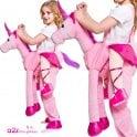 Pink Ride On Fairytale Unicorn - Kids Costume