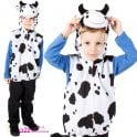 Cow Zip Top - Kids Costume