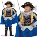 Blue Noble Knight Musketeer- Kids Costume