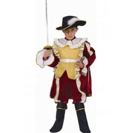 Red Noble Knight Musketeer- Kids Costume