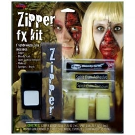 Zipper Face FX Kit - Adult Accessory