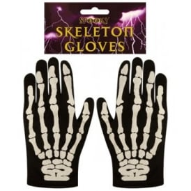 Older Skeleton Gloves - Kids Accessory