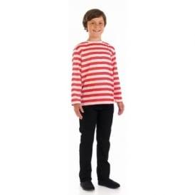 Red & White Striped Jumper - Kids Accessory