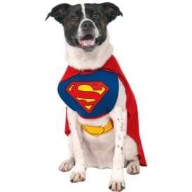 Superman Dog Costume - Pet Accessory