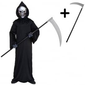 Holographic Grim Reaper - Kids Costume Set (Costume, Scythe)
