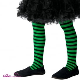 Wicked Witch Tights (Green & Black) - Kids Accessory