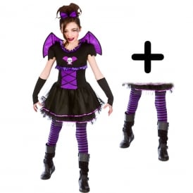 Batty Ballerina - Kids Costume Set (Costume, Tights)