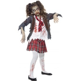 Zombie School Girl - Kids Costume