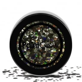 Black Enchantress Chunky Glitter - Make-up Accessory