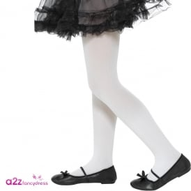 Opaque White Tights - Kids Accessory