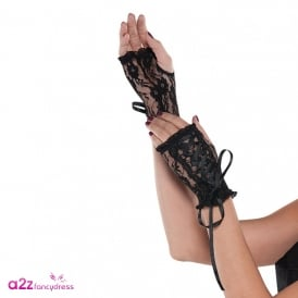 Lace up Glovelettes - Adult Accessory