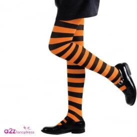 Orange & Black Tights - Kids Accessory