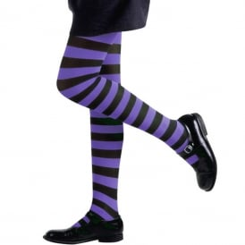 Black & Purple Tights - Kids Accessory