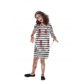 Zombie Convict Girl - Kids Costume