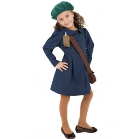 WW2 Evacuee Girl - Kids Costume