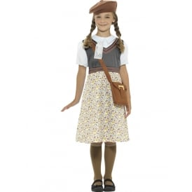 WW2 Evacuee School Girl - Kids Costume
