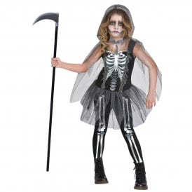 Girls Skeleton Reaper - Kids Costume