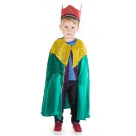 Green King or Wise Man Balthazar - Kids Costume