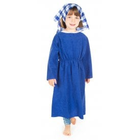 Mary (Suedette Tunic & Check Headscarf) - Kids Costume
