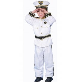 Deluxe Navy Admiral (White) - Kids Costume
