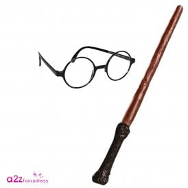 ~ Harry Potter Wand & Glasses - Kids Accessory Set