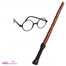 ~ Harry Potter Wand & Glasses - Kids Accessory Set