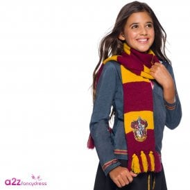 ~ Gryffindor Deluxe Scarf With Embroidered Badge - Accessory