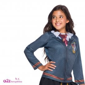 ~ Hermione Granger Gryffindor Costume Top - Kids Accessory