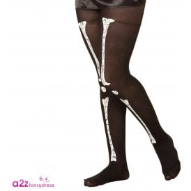 Skeleton Girl Tights - Kids Accessory