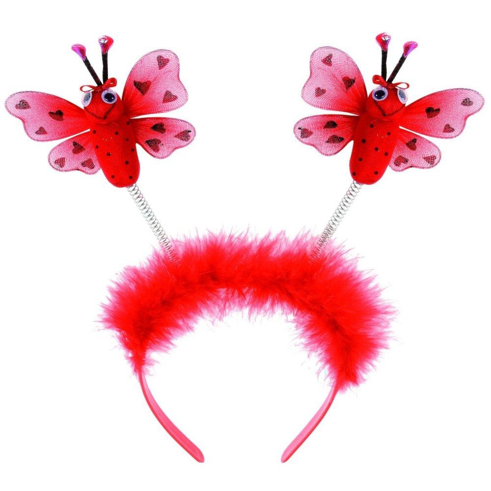 Knitting Ladybug Ladybird Headband : Kids girls ladybird ladybug insect headband tights wings