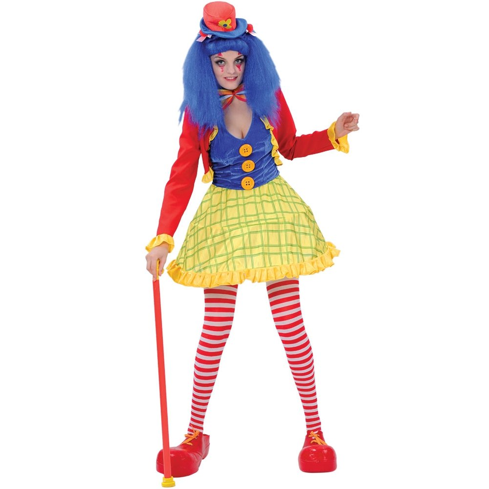 Ladies-Coco-Clown-Girl-Circus-Fun-Fancy-Dress-Costume-Adult-Women-Female
