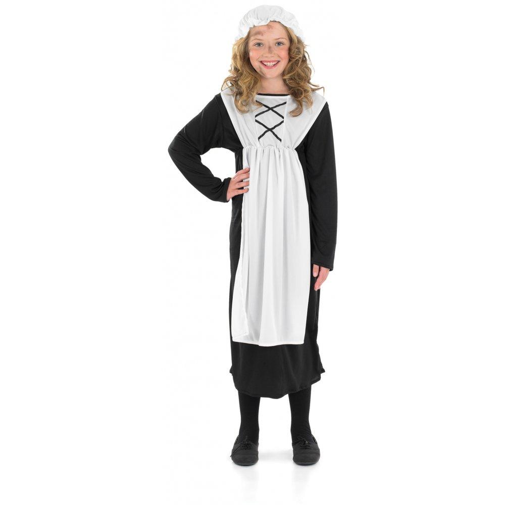GIRLS VICTORIAN POOR GIRL PARLOUR MAID URCHIN BOOK DAY KIDS FANCY DRESS COSTUME   eBay