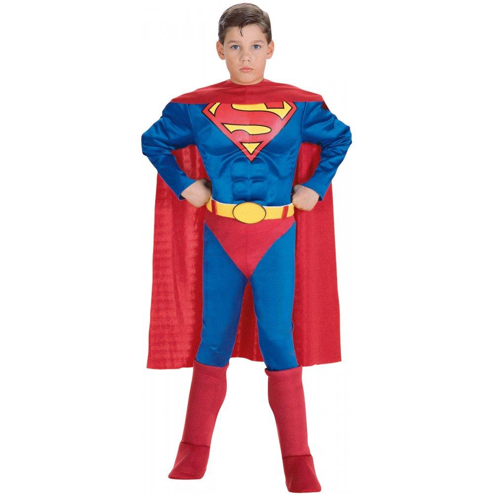 BOYS-SUPERMAN-MAN-OF-STEEL-SUPERHERO-KIDS-TODDLER-  sc 1 st  eBay & BOYS SUPERMAN MAN OF STEEL SUPERHERO KIDS TODDLER FANCY DRESS ...