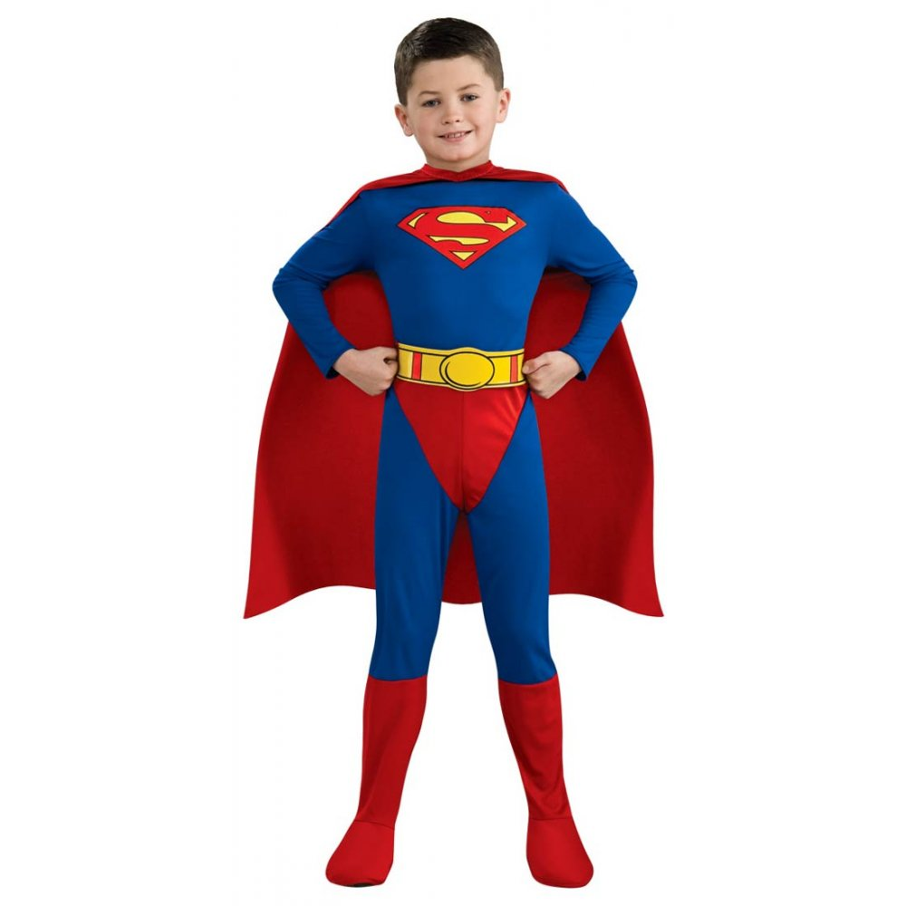 Superman fiber-fill Muscle Chest Shirt with attached cape Rubie's Men's Batman V Superman: Dawn of Justice Deluxe Adult Superman Cape, Red, One Size by Rubie's.