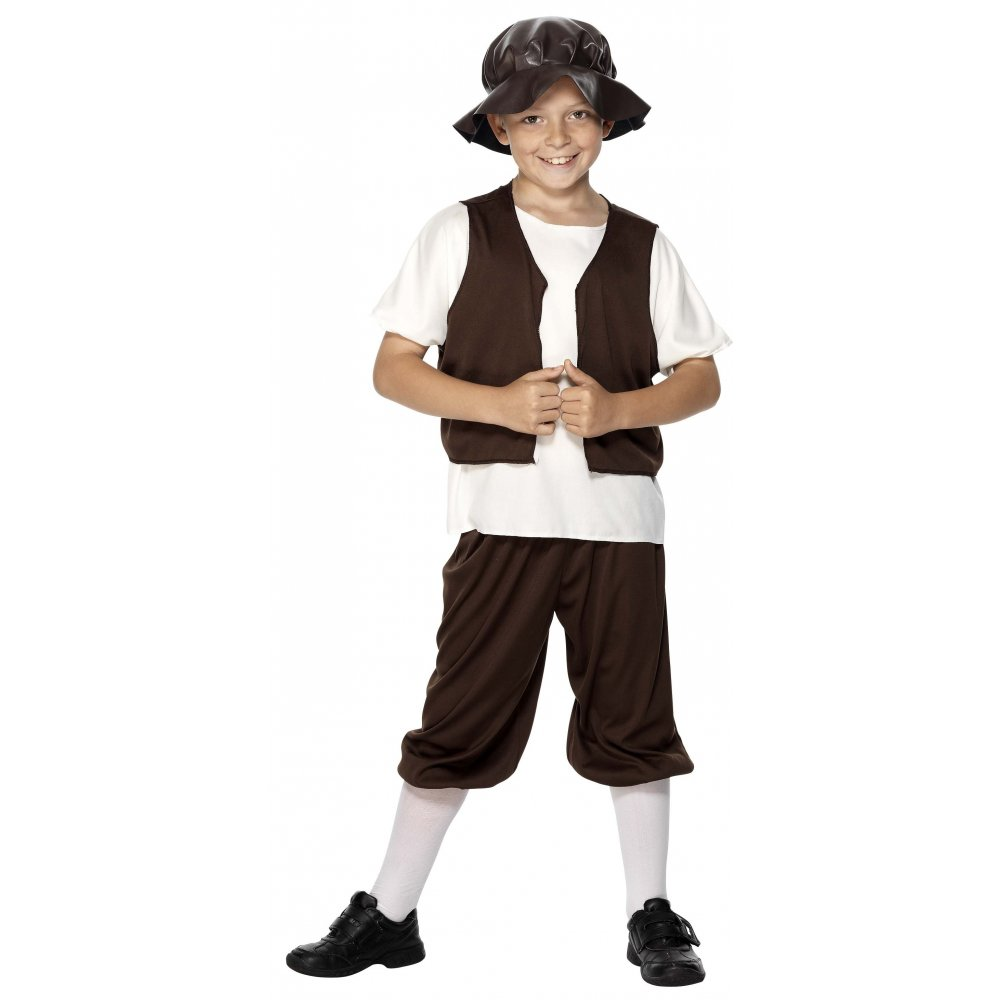 TUDOR POOR BOY KIDS COSTUME URCHIN MEDIEVAL CURRICULUM SIZES 3-12 YEARS PLUS | EBay